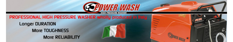 Professional high pressure cleaners made in Italy